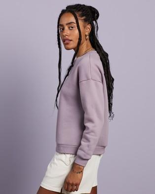 Cools Club - Leisure Embro Sweatshirt Sweats (Lilac)
