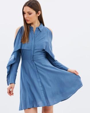 Lost Ink – Split Sleeve Shirt Dress