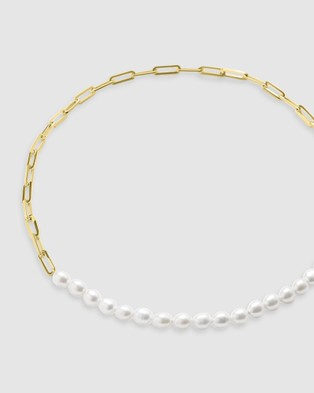 CA Jewellery Pearl Necklace Gold - Jewellery (Gold)