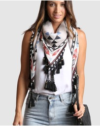 Arms Of Eve - Aztec Silk Printed Scarf