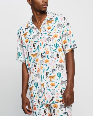 Cotton On Kip & Co Resort Short Sleeve Shirt - Casual shirts (In The Jungle)