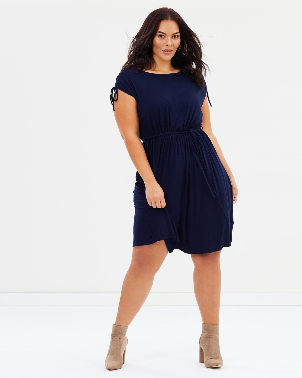 DP Curve Jersey Midi Dress Dresses Navy Jersey Midi Dress