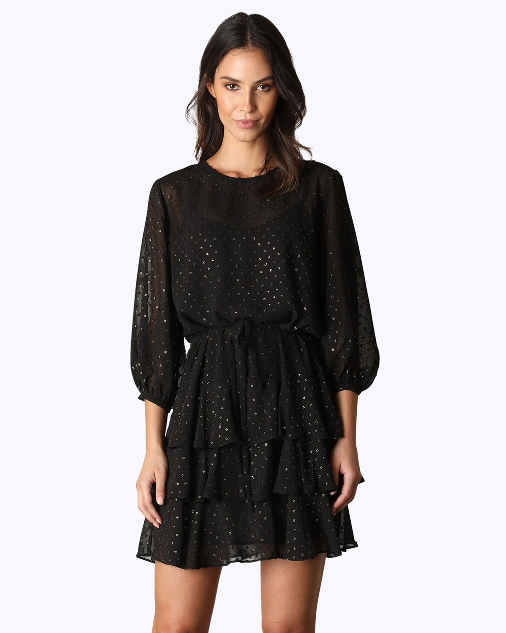 Rodeo Show La Boheme Mini Dress Dresses Black La Boheme Mini Dress
