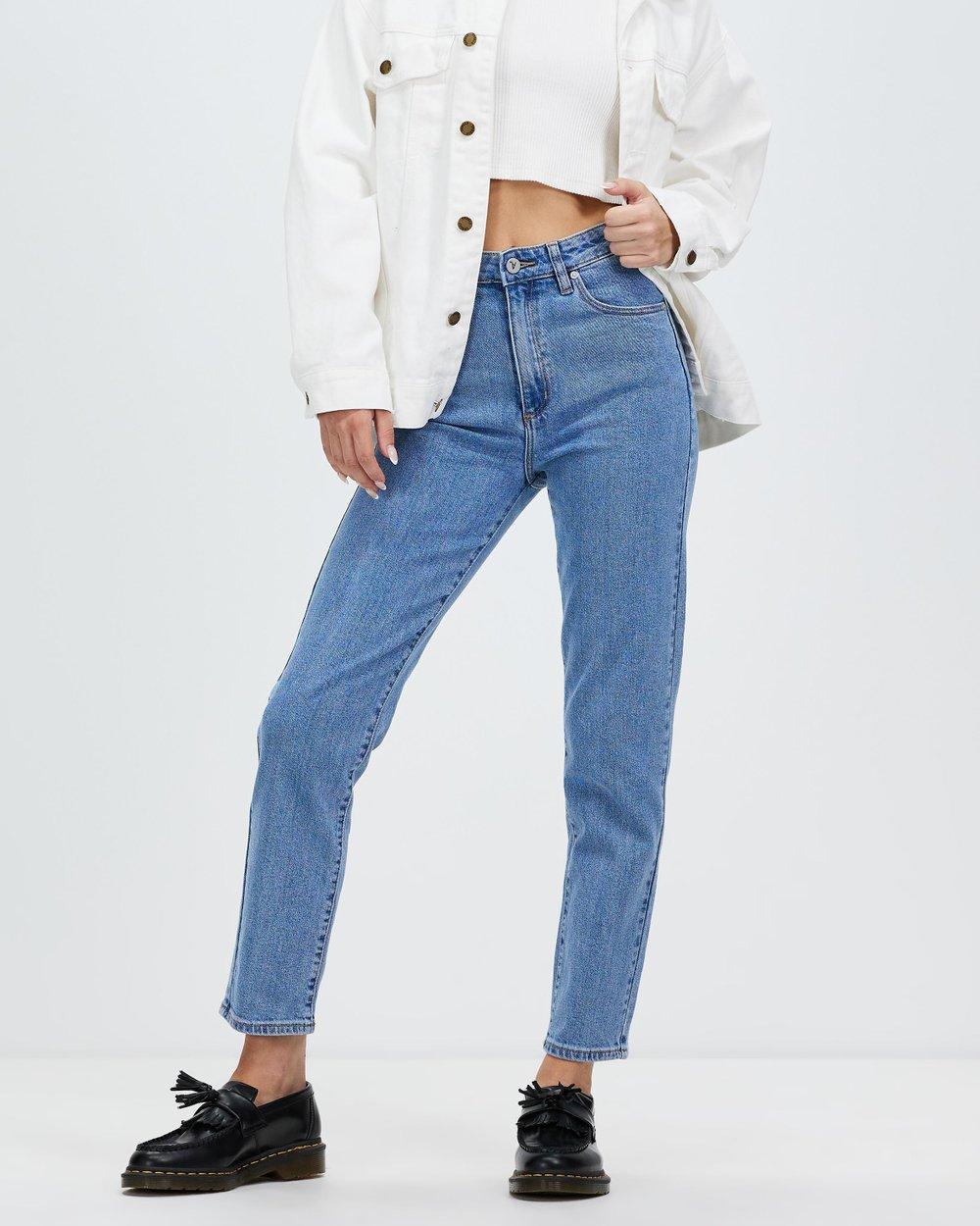 Womens Jeans Skinny High Waisted Ripped Australia The Tendencies Long Pants Rigid Quar Ter Chinos Navy 32 Iconic