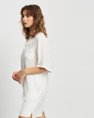 Gysette Azhia Jacquard Summer Resort Shirt - Tops (Bright White)