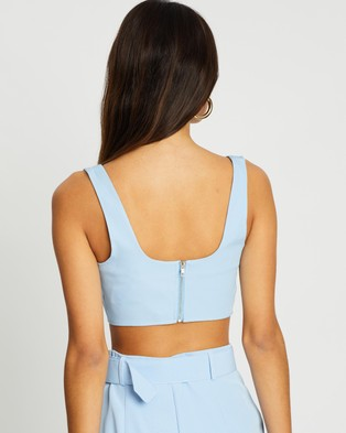 Missguided Co Ord Super Scoop Crop Top - Cropped tops (Baby Blue)