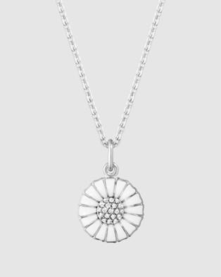 Georg Jensen Daisy Pendant Small - Jewellery (White, Silver)