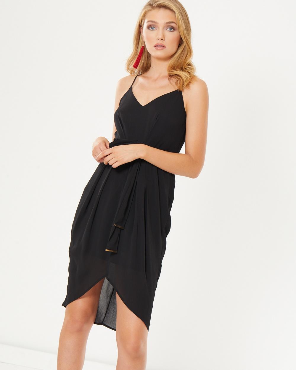 Photo of Tussah Black Celine Midi Dress - beautiful dress from Tussah online