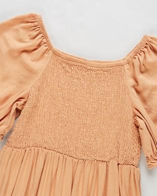 Cotton On Kids Lillie Short Sleeve Dress   Kids - Dresses (Apricot Sun)