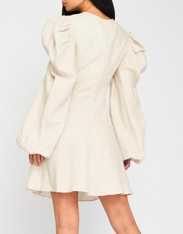 Women Bethany Linen Twist Mini Dress