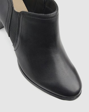 Airflex Carly Heeled Ankle Booties - Boots (Black)