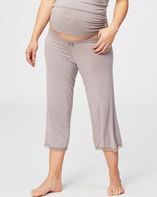 Cake Maternity Apple Crumble Lounge & Pyjama Pants - Sleepwear (Grey)