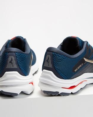 Mizuno Wave Inspire 17   Men's - Performance Shoes (India Ink & Platinum Gold)