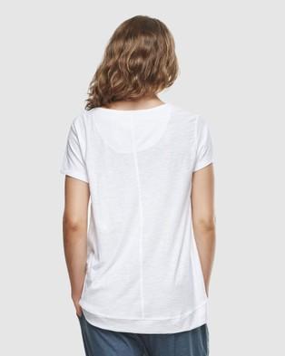 Cloth & Co. Organic Cotton Slub T Shirt - Short Sleeve T-Shirts (White)