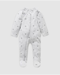 Purebaby - Zip Growsuit - Babies