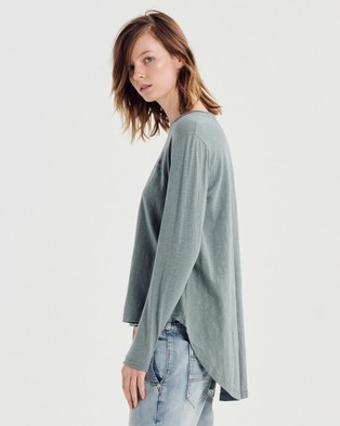 Jac & Mooki Gigi Long Sleeve Tee - Long Sleeve T-Shirts (sage)