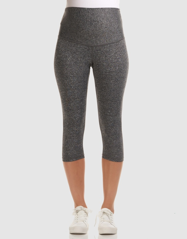 Soon Maternity - Sage Overbelly 3/4 Active Leggings