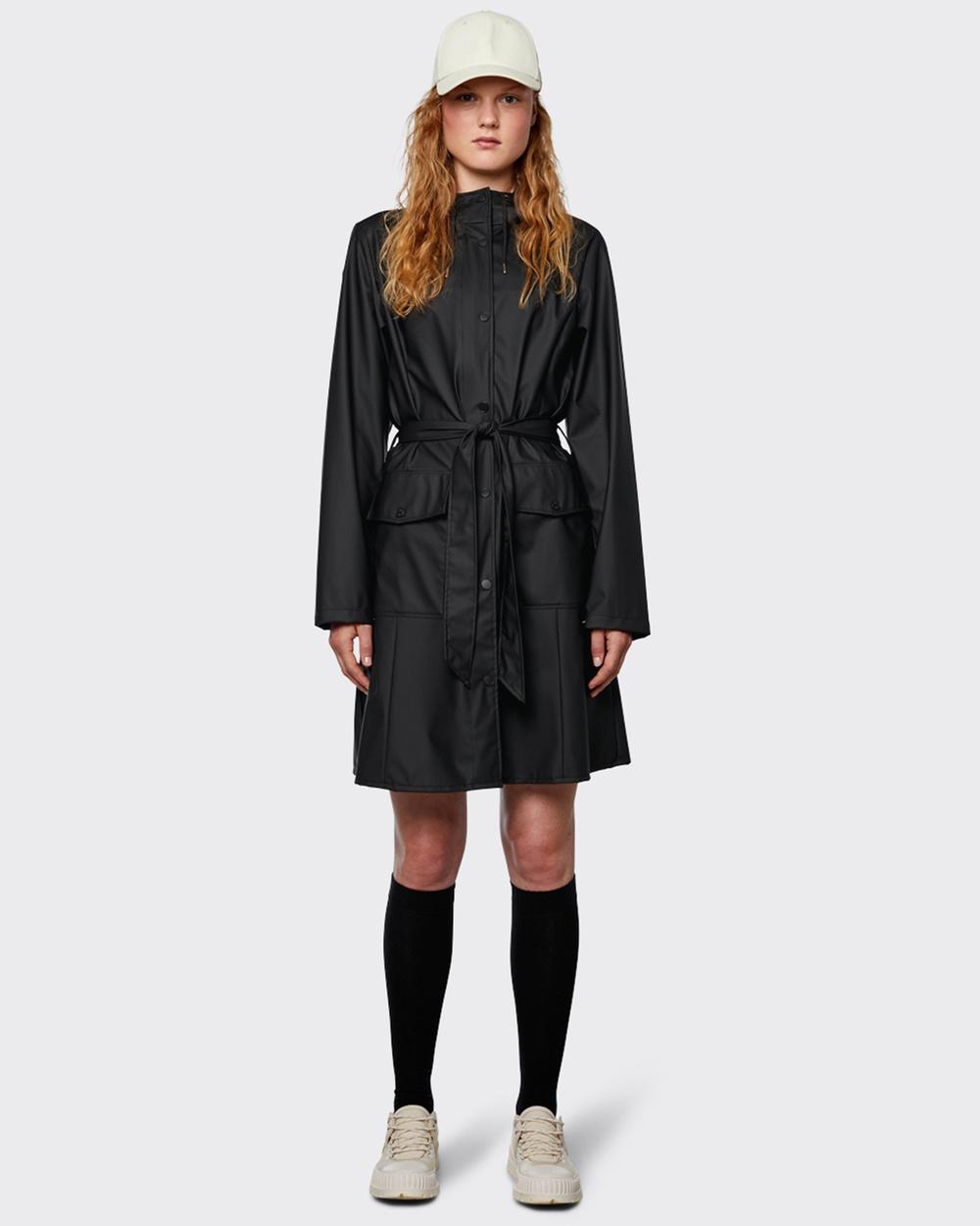 RAINS Curve Jacket Coats & Jackets Black