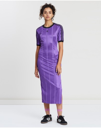 adidas Originals - Textured Stripe Dress
