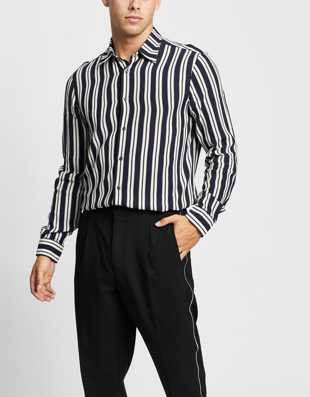 REISS - Keanu LS Stripe Shirt
