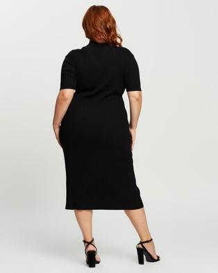 Atmos&Here Curvy Lulu Midi Dress - Bodycon Dresses (Black)