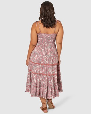 The Poetic Gypsy Gypsy Floral Print Dress - Printed Dresses (PINK)
