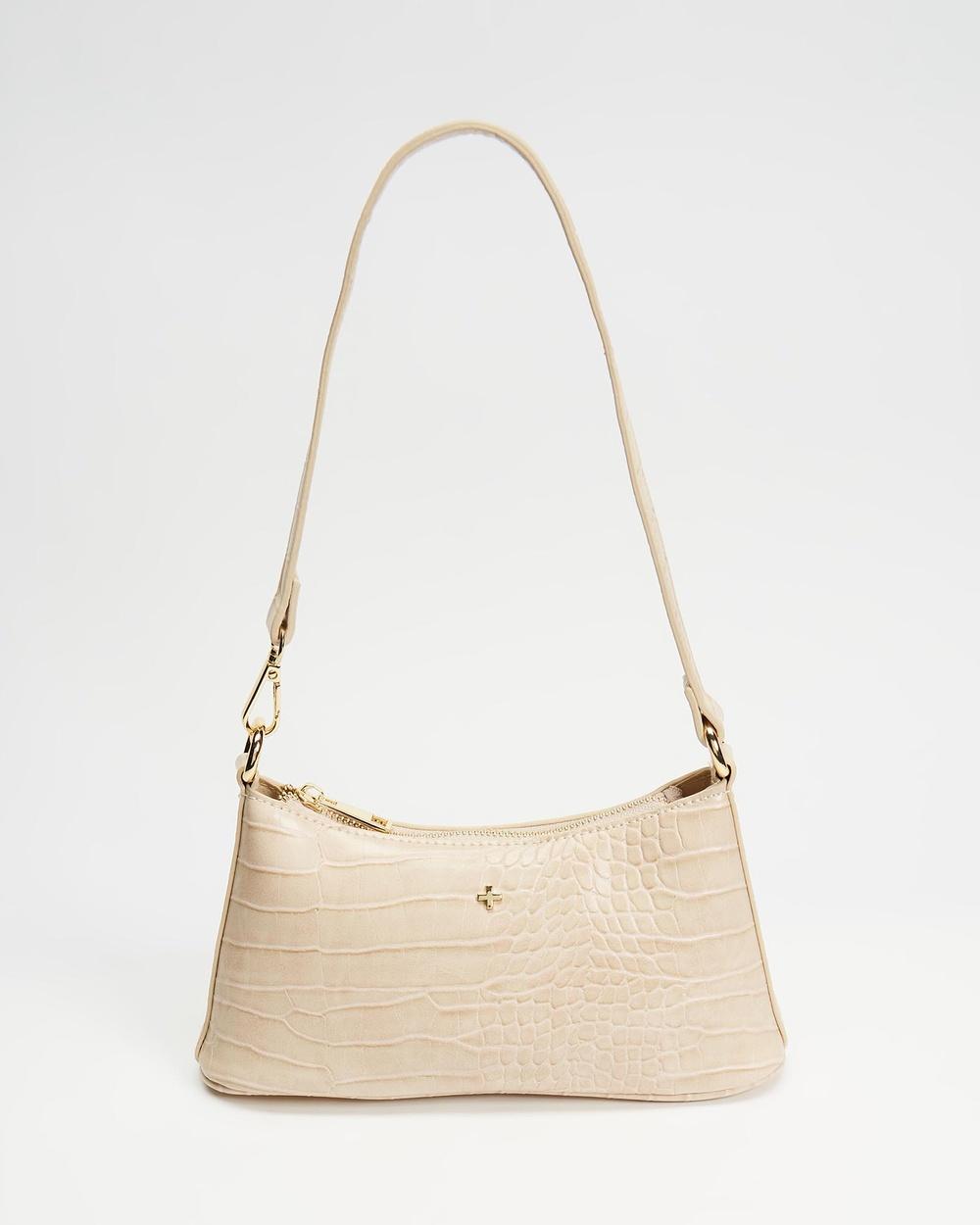 PETA AND JAIN Danni Shoulder Bag Handbags Nude Croc
