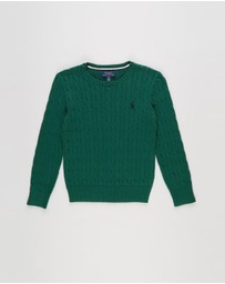Polo Ralph Lauren - Long Sleeve Cable Cotton Sweater - Teens