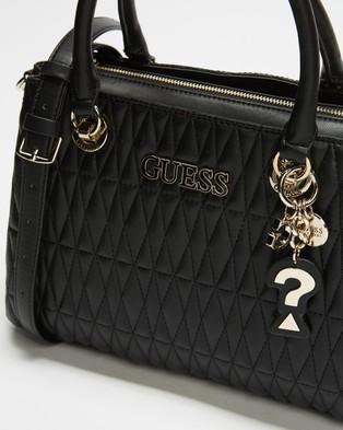 Guess Brinkley Triple Compartment Satchel - Handbags (Black)