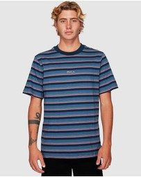 RVCA - Curtis Stripe Shorts Sleeve Tee