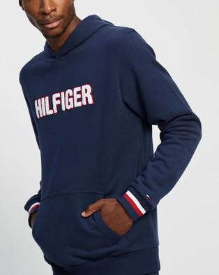 Tommy Hilfiger Textured Logo Signature Cuff Hood - Hoodies (Desert Sky)
