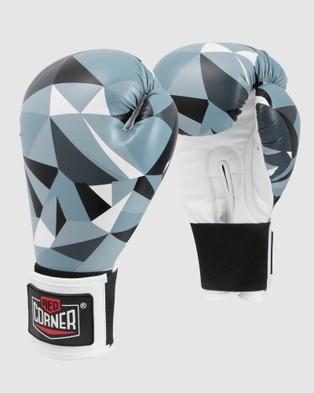 Red Corner Boxing RCB Spar Boxing Gloves   Shattered - Training Equipment (Black)