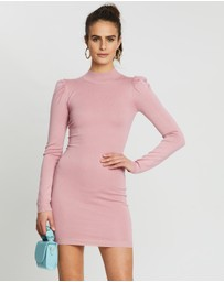 Missguided - Knitted Puff Sleeve Mini Dress