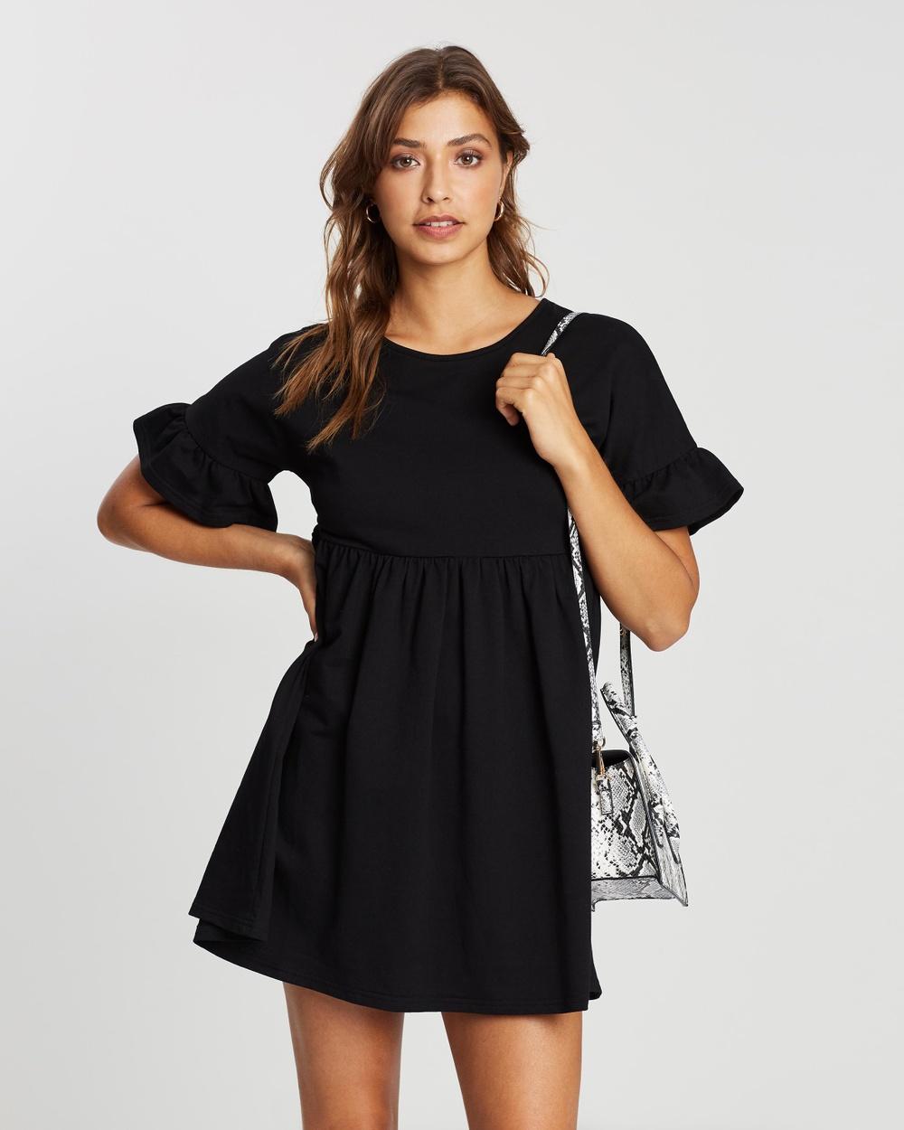 Atmos&Here - Eimear Smock Dress Dresses (Black)