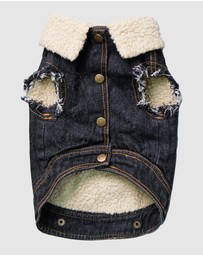 PETHAUS - Sherpa Denim Vest - Large