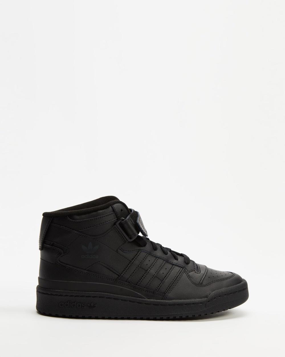 adidas Originals Forum Mid Unisex Lifestyle Sneakers Core Black, Core Black & Black