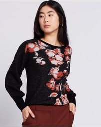 David Lawrence - Lucinda Floral Knit