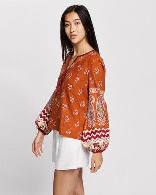 Tigerlily Heloise Blouse - Tops (Rust)