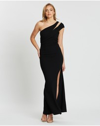 Bariano - Venus Asymmetric Split Maxi Dress