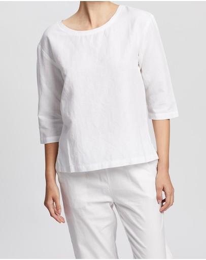 Kaja Clothing Sue Top White