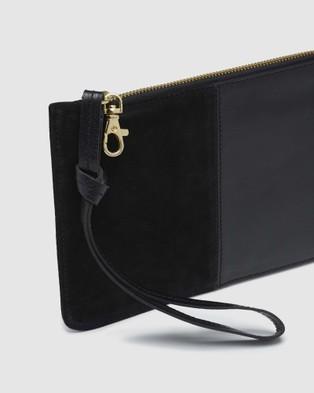 Oxford Adalynne Leather suede Wallet - Clutches (Black)