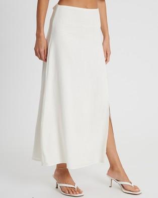 Savel Ciara Midi Skirt - Skirts (White)