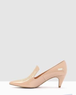 Kennedy Dot - Mid-low heels (NUDE)