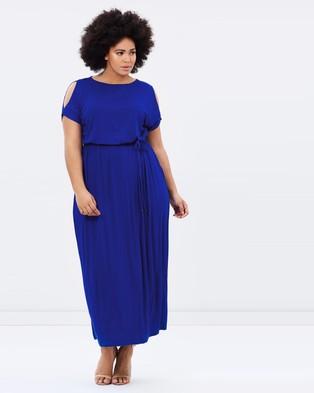 DP Curve – Jersey Cold Shoulder Maxi Dress