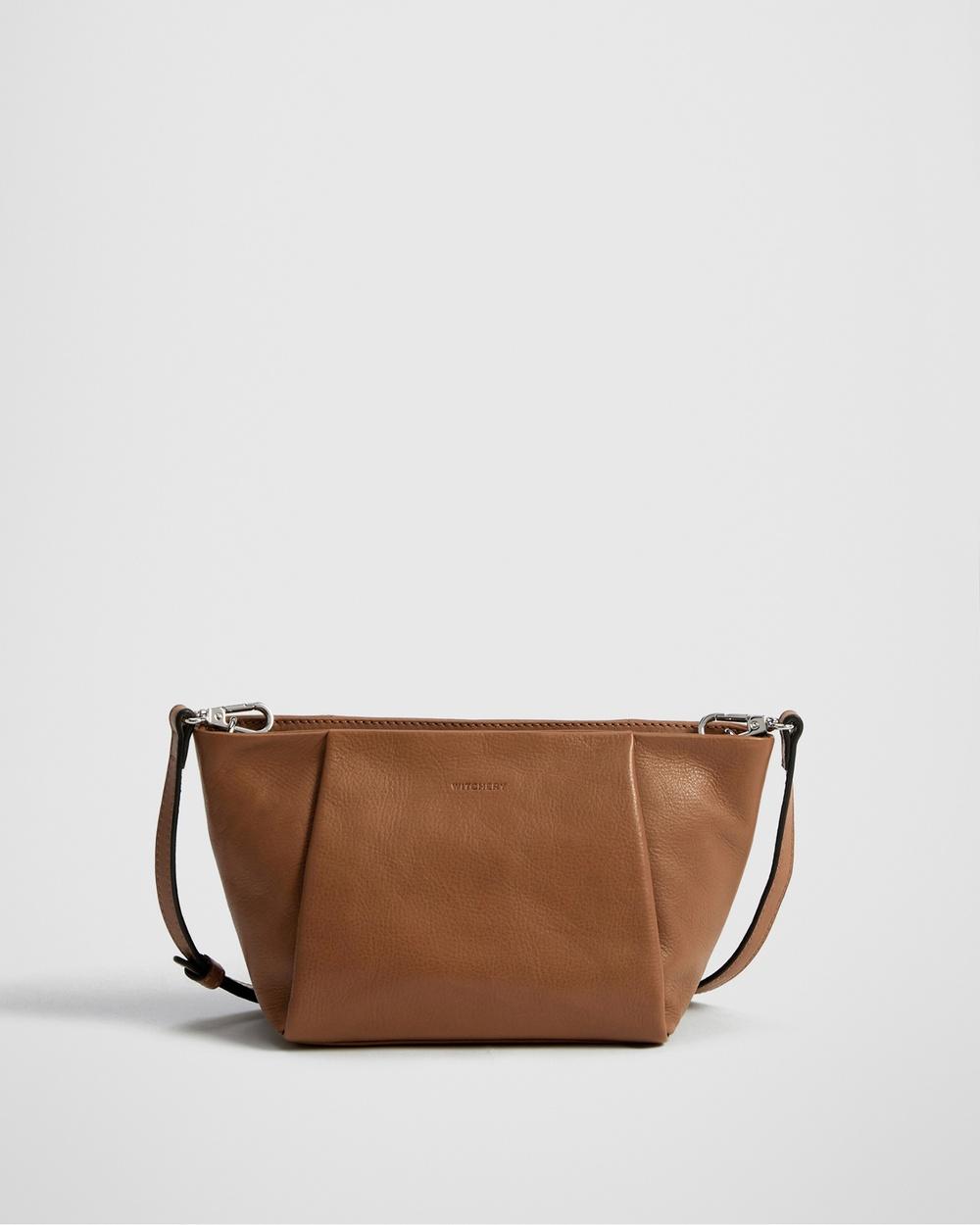 Witchery Celia Mini Soft Crossbody Bag Bags brown Laptop Bags Australia