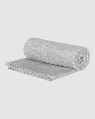 Dock & Bay Extra Large Fitness Towel 100% Recycled Essential Collection - Gym & Yoga (Grey)