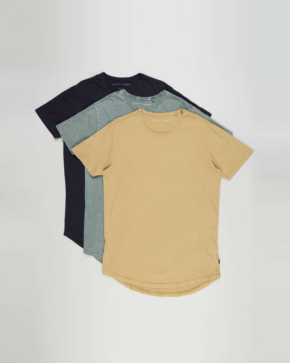 Silent Theory - Acid Tail Tee 3 Pack - T-Shirts & Singlets (Acid Green, Fern & Navy) Acid Tail Tee 3-Pack