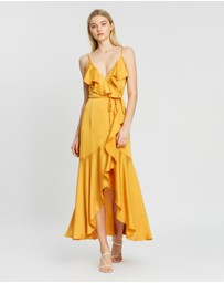 Shona Joy - Oro Bias Frill Wrap Dress