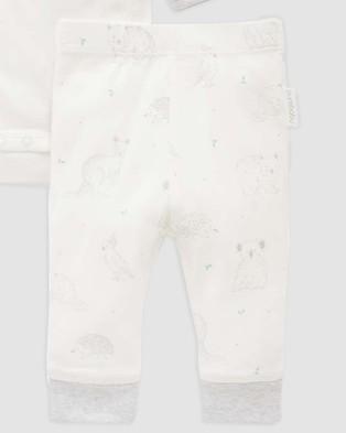Purebaby 3 Piece Gift Pack Babies Accessories Pale Grey Australia Print