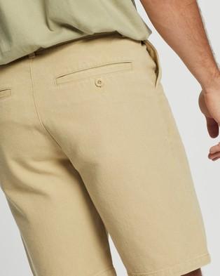 AERE Organic Twill Shorts - Chino Shorts (Sand)